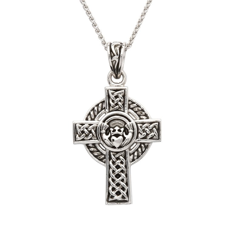 Sterling Silver Unisex Claddagh Celtic Cross Sp2262