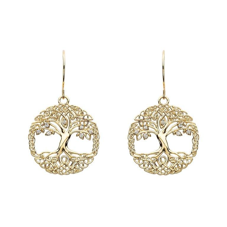 Tree Of Life 10K Gold Earrings 10E660