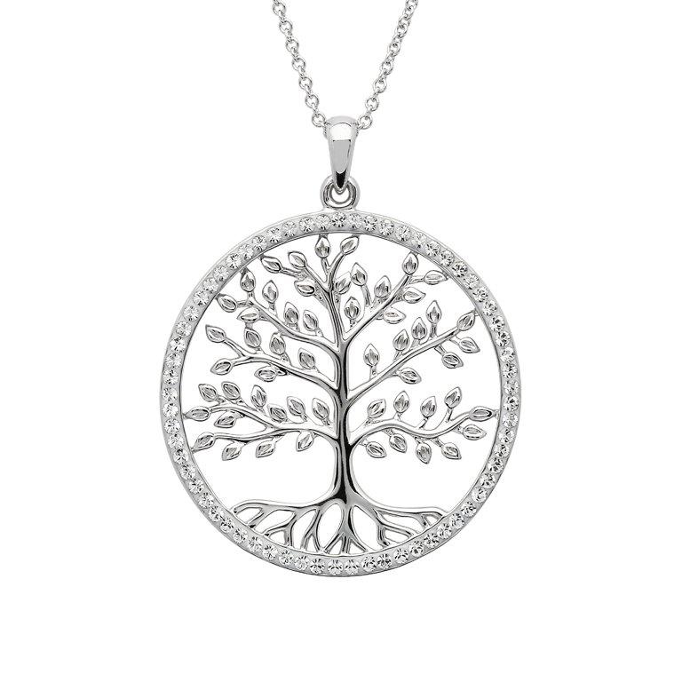 Tree Of Life Pendant Adorned With Swarovski Crystals St101