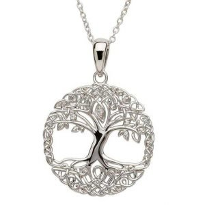 Tree Of Life Silver Necklace Sp2102Cz