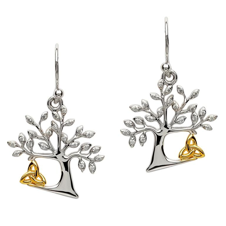 Tree Of Life Trinity Earrings Se2094Cz