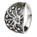 Tree Of Life Trinity Knot Silver Ring Sd18 - Gallery Thumbnail Image