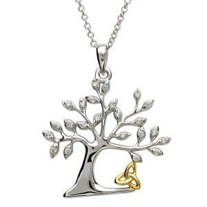 Tree Of Life Trinity Necklace Sp2093Cz