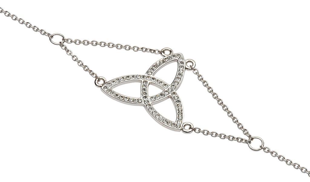 Trinity Knot Bracelet Adorned With Swarovski Crystals Sw44_2