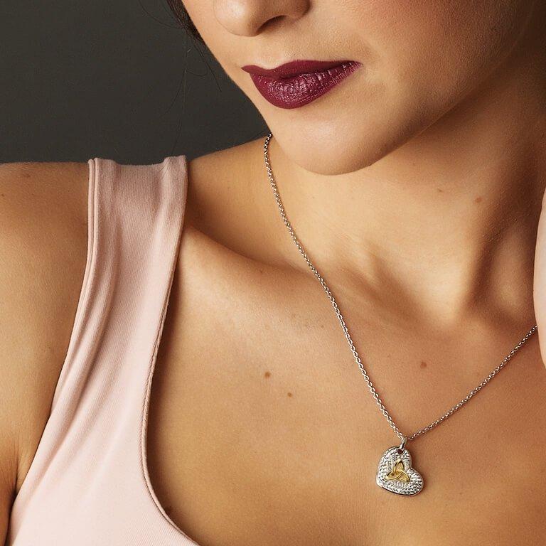Trinity Necklace Encrusted With Swarovski Crystals Sw16_2