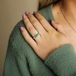 Sterling Silver Malachite Claddagh Ring - Gallery Thumbnail Image
