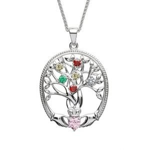 six stone family tree of life pendant