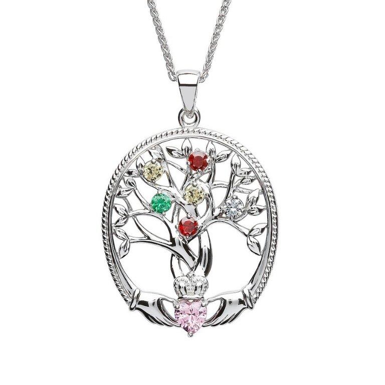 six stone family tree of life pendant