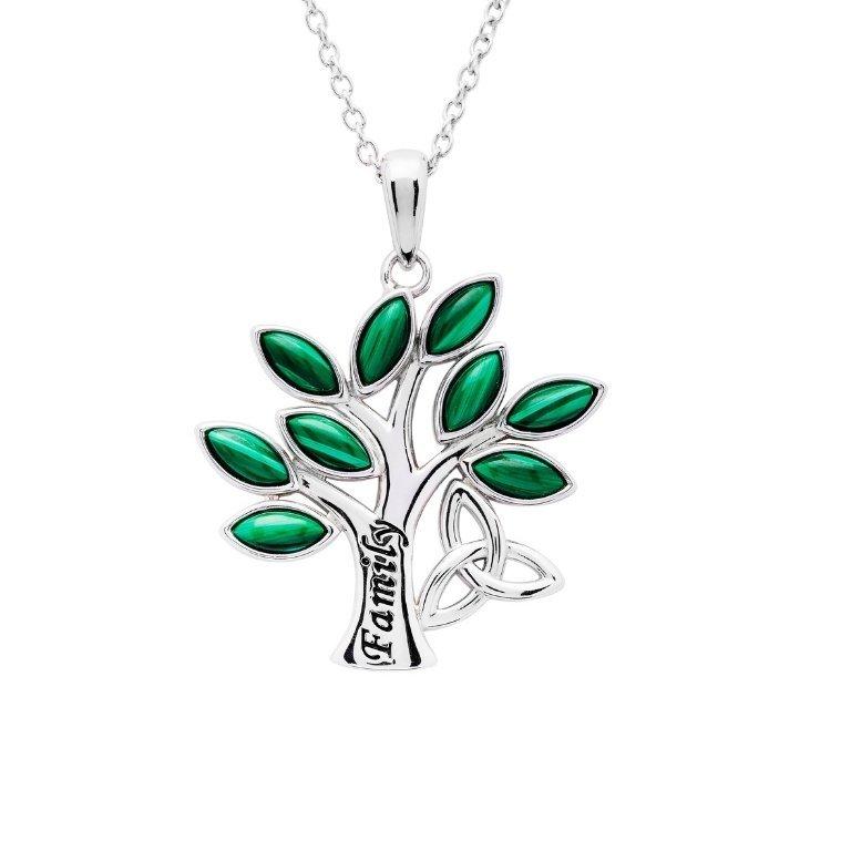 Family Tree of Life Malachite Pendant