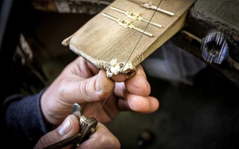 Shanore Craftsman making an Irish Claddagh Ring