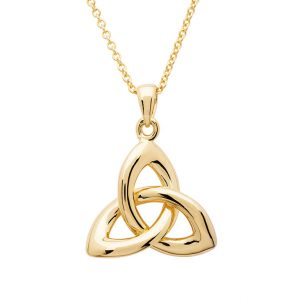 14KT Gold Vermeil Trinity Knot Necklace