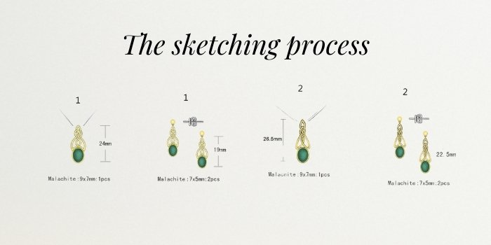 Celtic Jewelry Sketching process