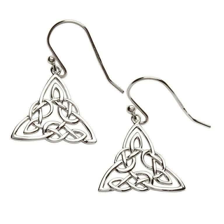 Silver Celtic Intricate Design Earrings