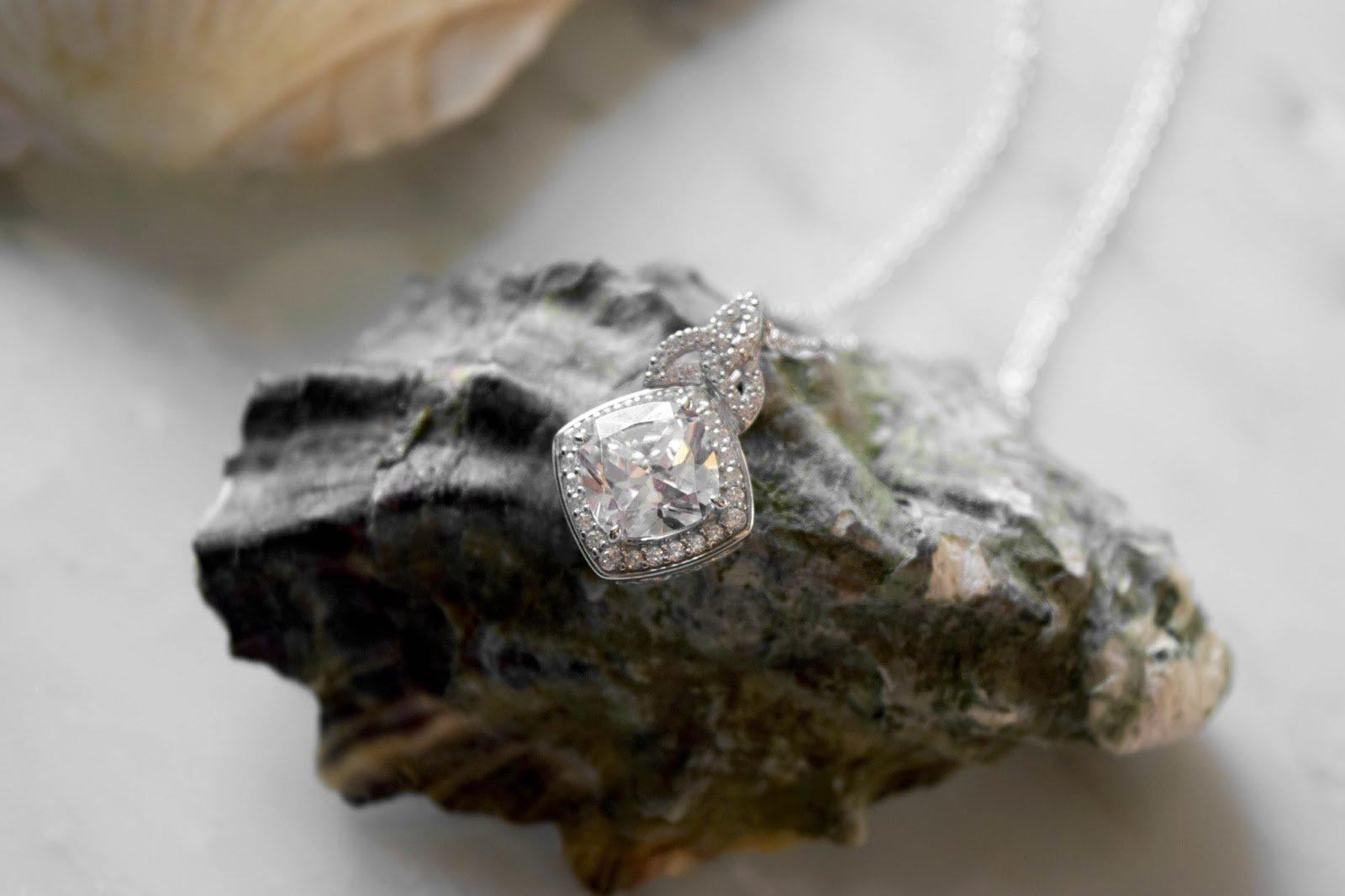 Silver CZ Trinity Knot Halo Necklace